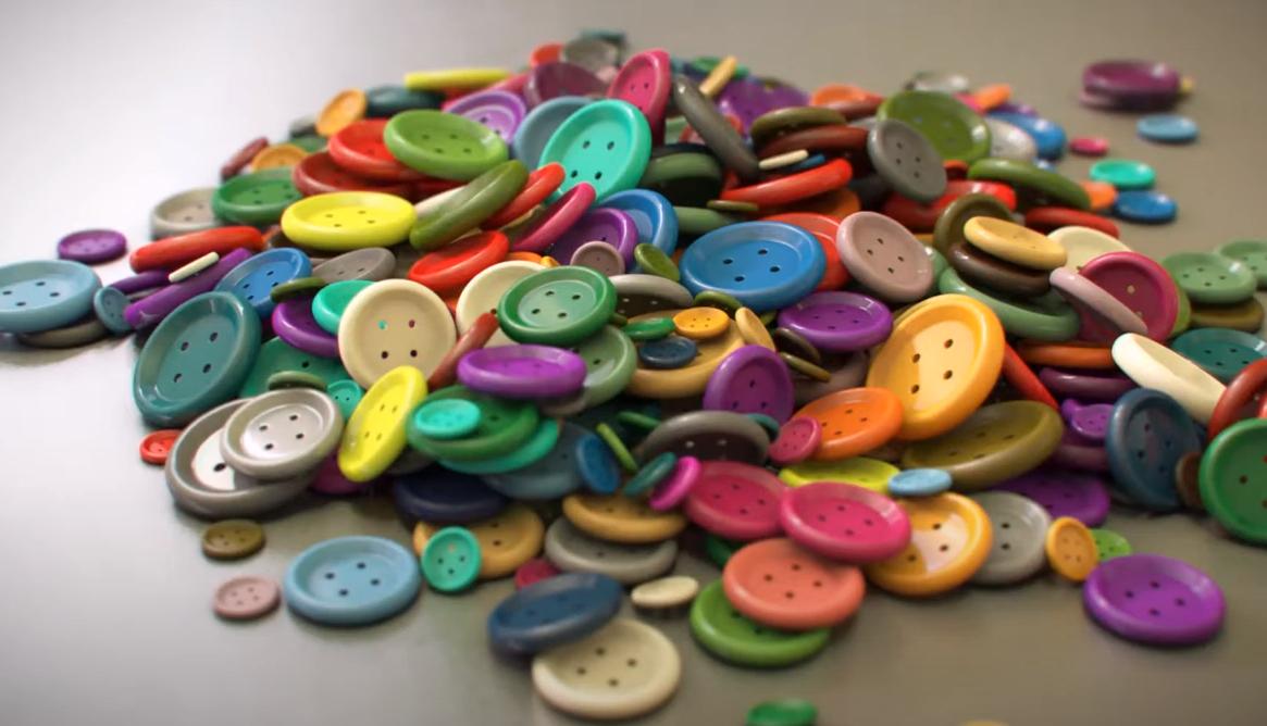 pila de botones